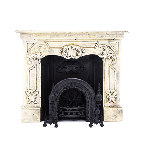 Vintage Fireplace with Accessories