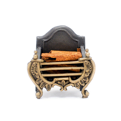 Fireplace Grate with Wooden Logs