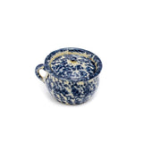 Chamber Pot with Blue and White Spongeware by Jane Graber