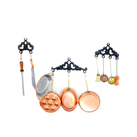 Hanging Copper Cookware Set by J. Getzan