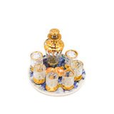 Crystal Decanter Set with Gold Trim