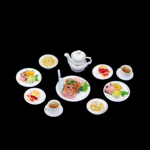 Nine Piece Ham Dinner Set