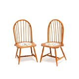 Karen Markland Painted Windsor Chairs, Pair