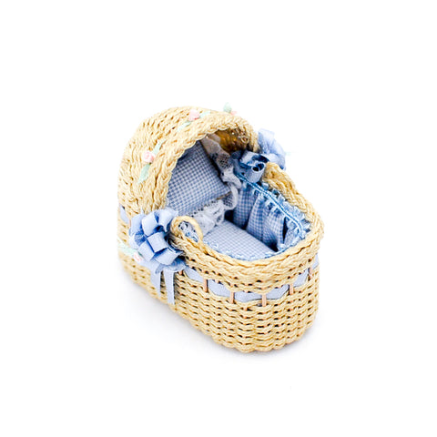 Small Bassinet in Blue