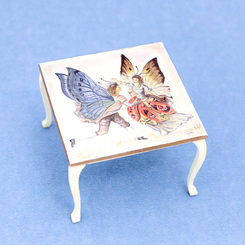 Butterfly Ball Table,  Hand Painted