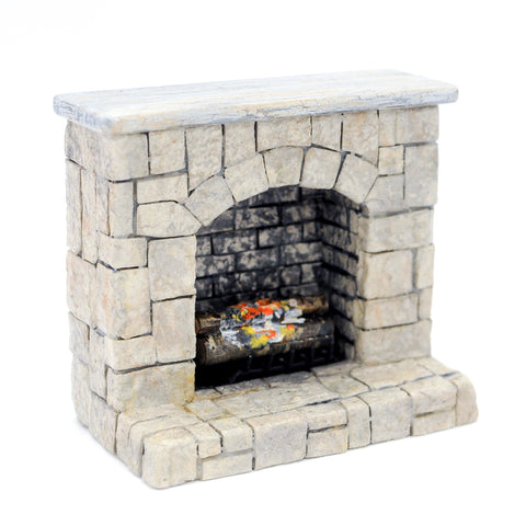 Stone Fireplace by Marquis