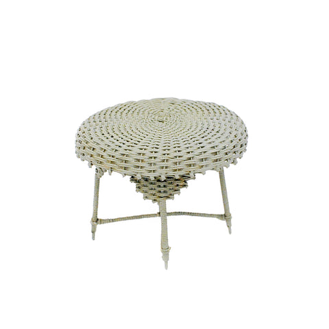 Wicker Table, Soft Green