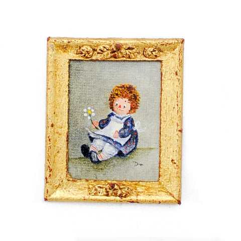 Oil Painting, Raggedy Ann with Daisy