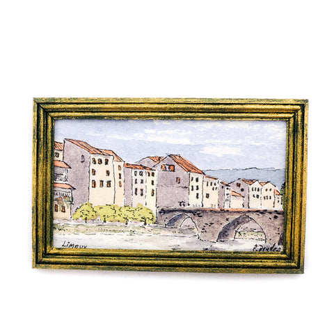 Peter Dryden Water Color, Limoux France