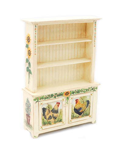Provincial Hutch with Rooster Design