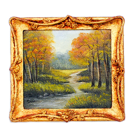Oil Painting, Fall, Meadow Brook