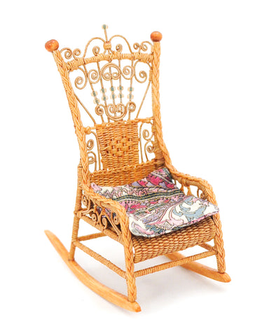 Wicker Rocking Chair by Rhea Strange