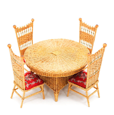 Rhea Wicker Table and Chair Set