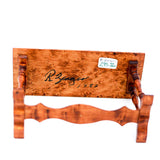 Burled Wood Console Table