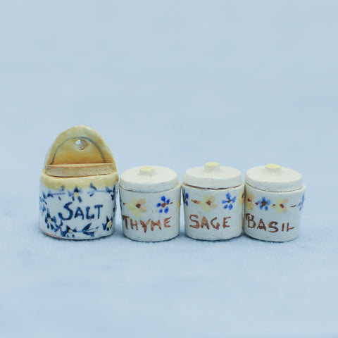 Set of Four Spice Containers
