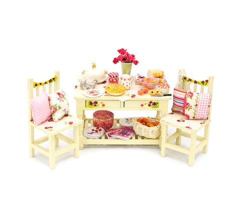 Cherry Themed Table and Chair Set