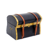 Leather Trunk with Brass Trim