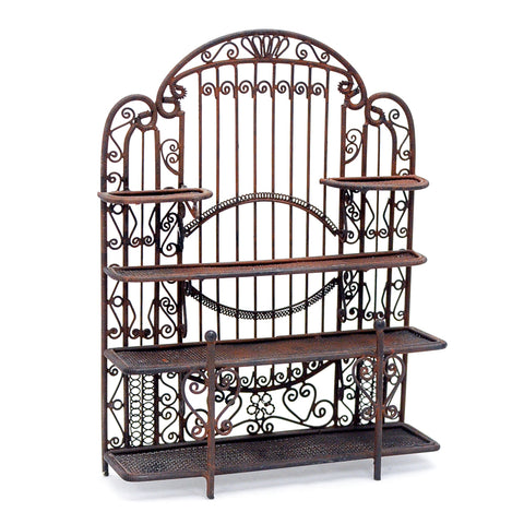 Large Metal Shelves, Antique Finish
