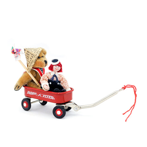 Radio FLyer Wagon with Bear and Raggedy Andy