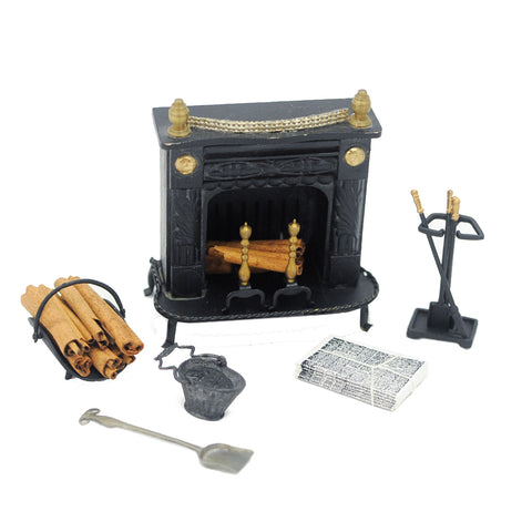Wrought Iron Hearth with Accessories