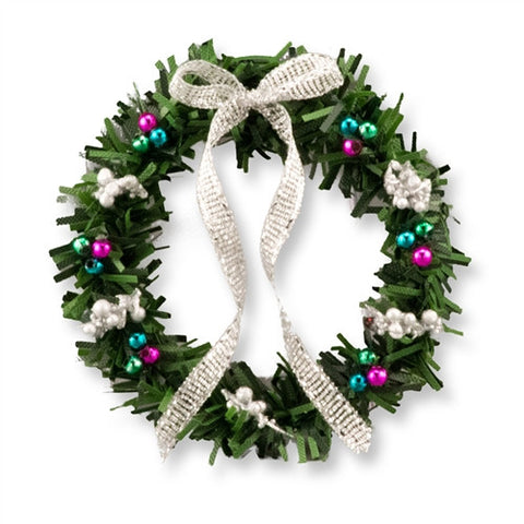 Christmas Wreath, Silver and Jewel Tone SOLD OUT