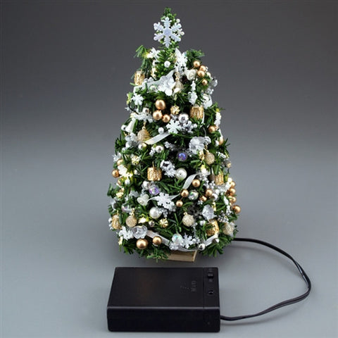"7"" Lighted Silver/Gold Ultimate Christmas Tree"