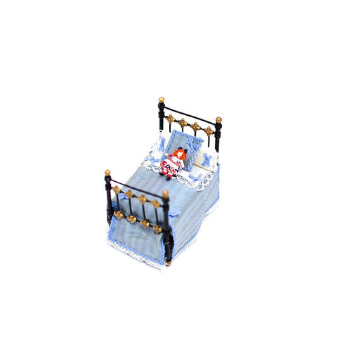 Doll's Doll Bed, Blue
