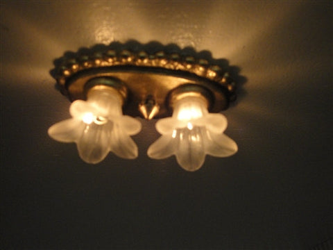 Double Tulip Ceiling Fixture by Diane Persico