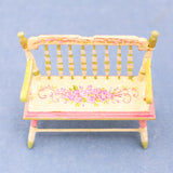 Hand Painted Windsor Bench With Roses
