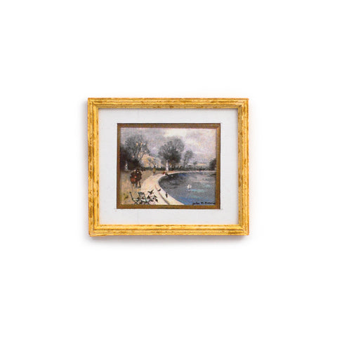 Framed and Matted Print of Park Scenery