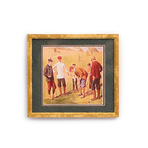Framed and Matted Golfers