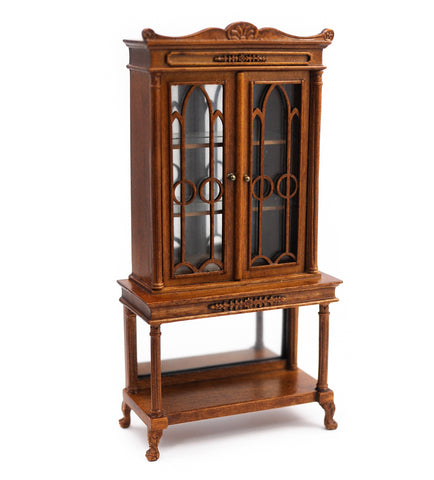 Bespaq Glass Display or China Cabinet, Walnut