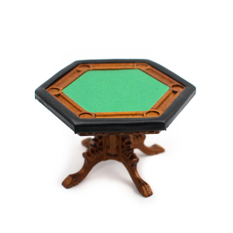 Hexagonal Poker Table by Bespaq, New Walnut