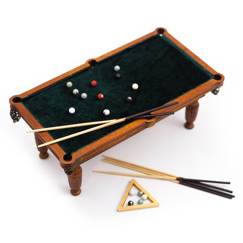 Classic Billiard Pool Table Set by Bespaq, New Walnut