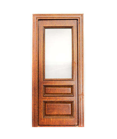 Windsor Single Door with Glass Panel, New Walnut Finish