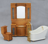 Italia Bathroom Set, Cherry Finish On Sale!
