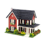 1/144th Scale Red Colonial House