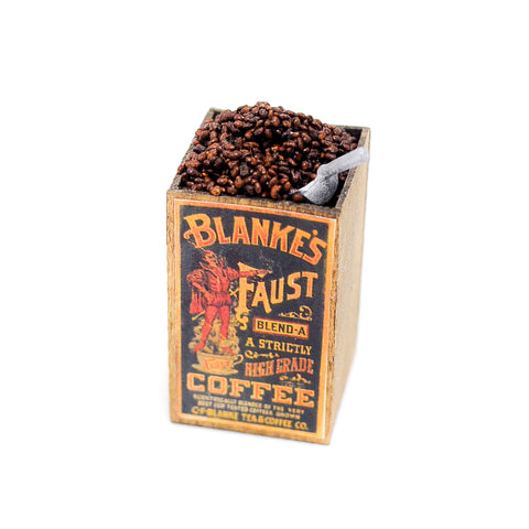 Vintage Bin of Coffee Beans with Scoop