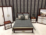 Modern Bedroom Set with Animal Print Linens