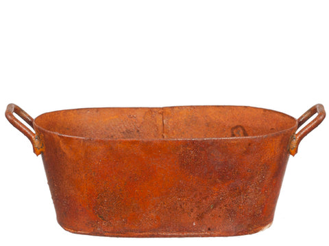 Oval Washtub, Rusty Finish