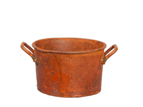 Round  Washtub, Rusty Finish