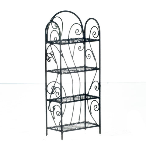 Four Shelf Unit, Metal, Black