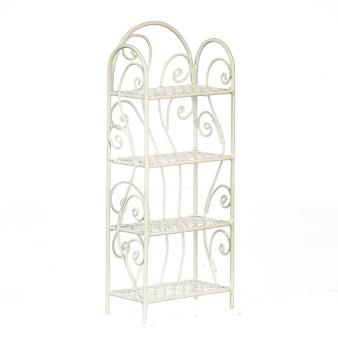 Four Shelf Unit, Metal, White