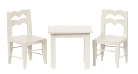 Child Size Table and Chairs, White
