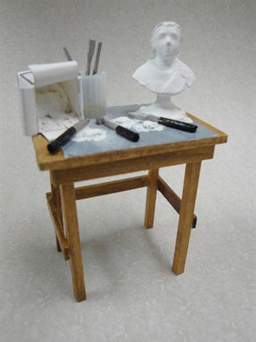 Sculpting Table, White Clay