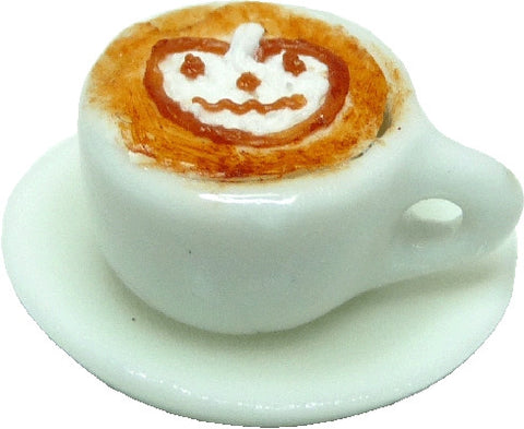 Halloween Espresso in Cup with Saucer