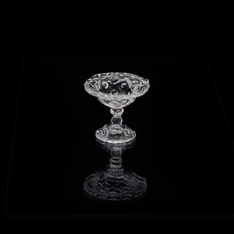 Diamond Thumbprint Footed Compote