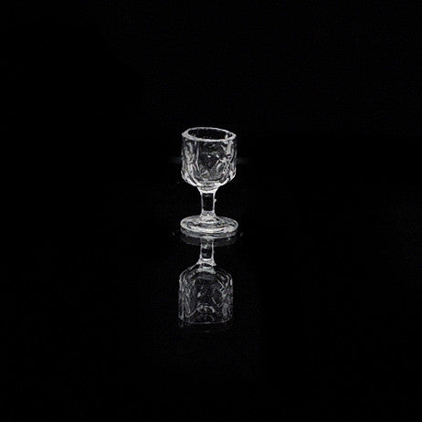 Crystal Water Goblet, Thumbprint Design