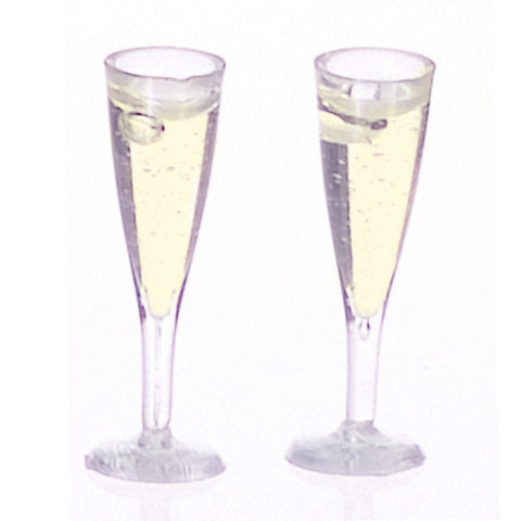 Champagne Glasses, Filled Pair