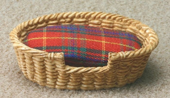 Pet Basket Bed, Small Oval